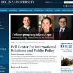 A screen grab from the new Pell Center website