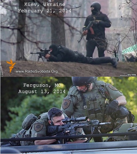 Kiev and Ferguson