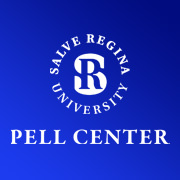 Pell Center Logo on a blue background
