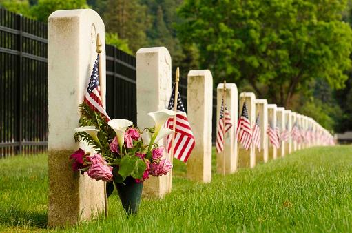 Veterans graves during Mermorial Day