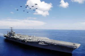 photo USS Abraham Lincoln aircraft carrier in the South China Sea