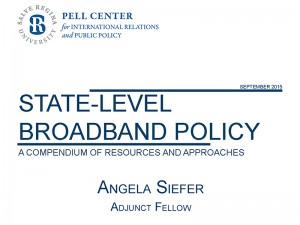 Cover of study by Adjunct Fellow Angela Siefer on State-Level Broadband policy