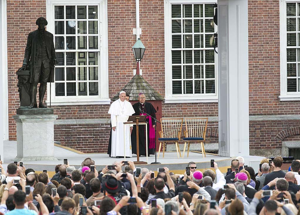 Pope Francis in America image
