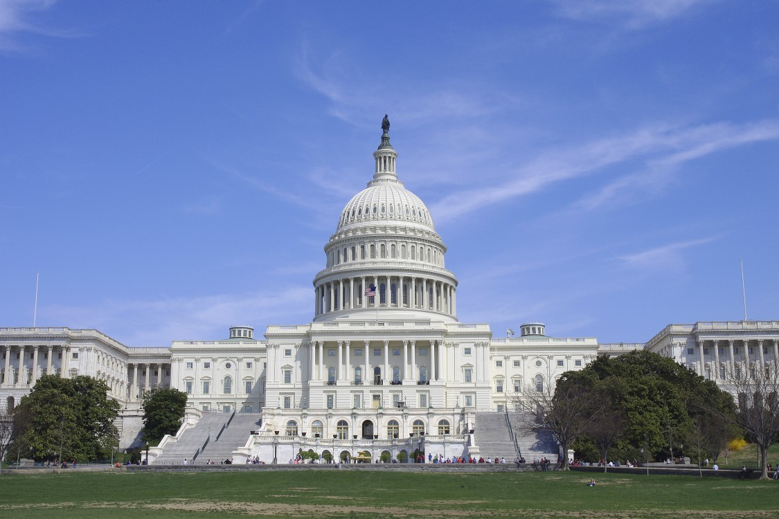 Photograph of the front of the Capitol Building in Washington D.C.