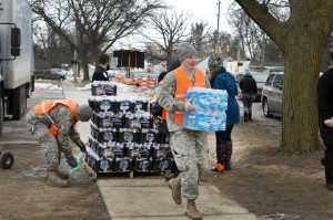 Flint MIchigan Bottled Water Distribution