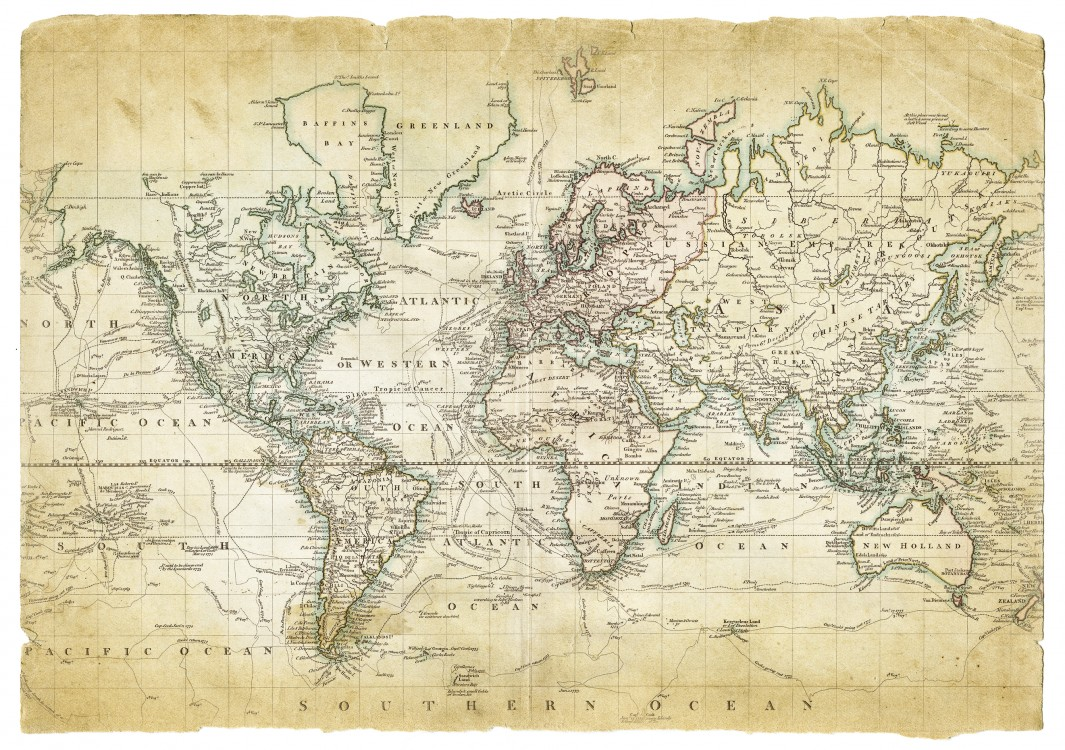 Map of the World on Mercators projection