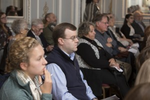 Audience members at the Pell Center