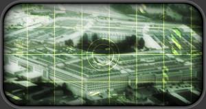 US Pentagon building as seen through target scope