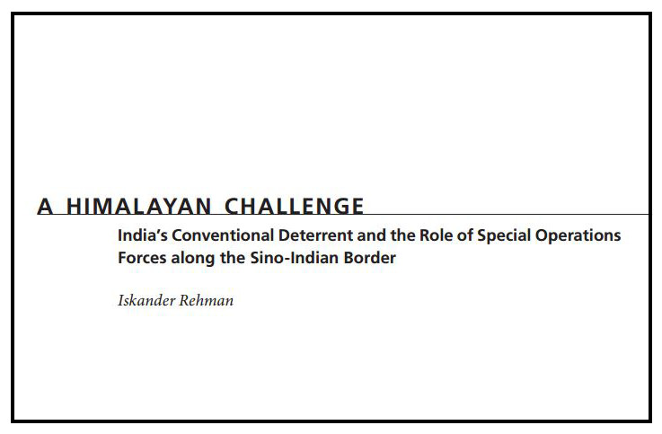"Iskander Rehman publishes paper entitled ""A Himalayan Challenge"""