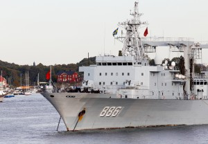 The People's Liberation Army Navy ship AOR-886 Qiandaohu visiting Stockholm