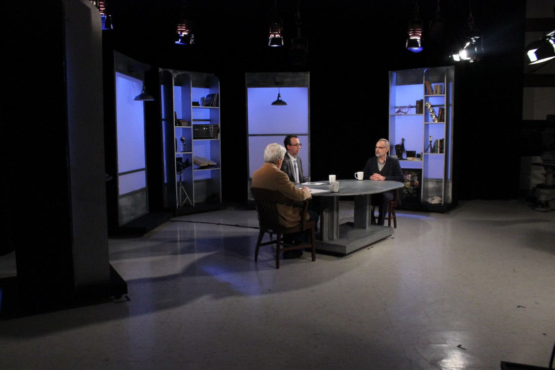Marc Smerling on set of Story in the Public Square