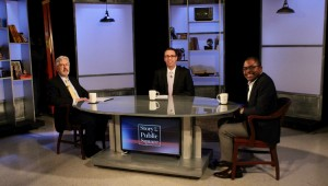 Dr. Scott Irvin on set of Story in the Public Square