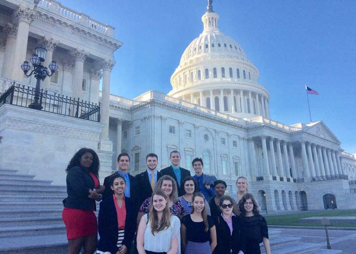 Nuala Pell Fellows visit the capitol building