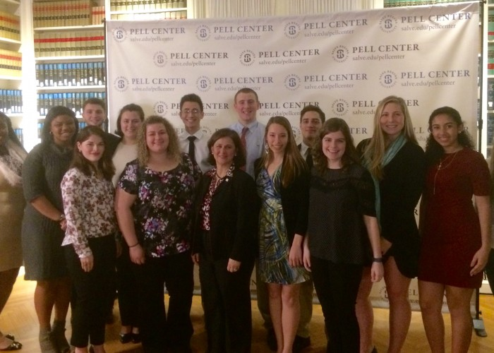 Nuala Pell Leadership fellows meet with Nellie Gorbea