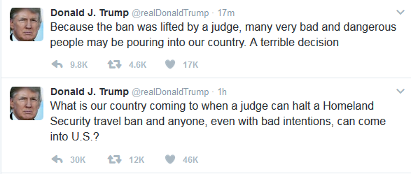 Donald Trump Tweets After Judge Rules