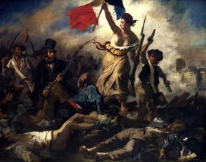 """Painting by Eugene Delacroix """"La liberte guidant le peuple"""""""
