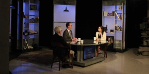 "G. Wayne Miller, Jim Ludes interview Alina Polyakova on set of ""Story in the Public Square"""