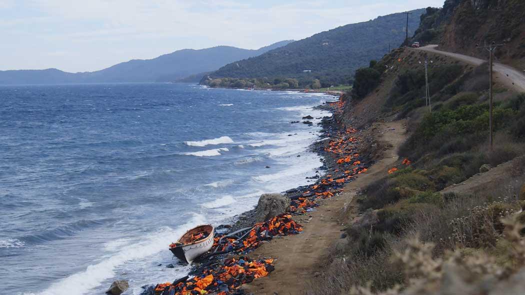 Image demonstrating damaging results of refugee crisis in Greece