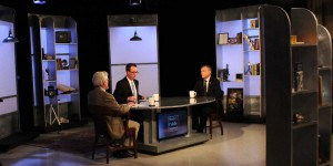 "G. Wayne Miller, Jim Ludes interview Paul Gionfriddo on set of ""Story in the Public Square"""