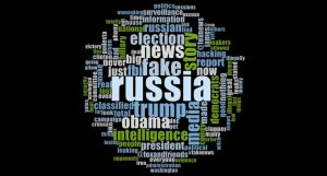 Word Cloud of Trump's tweets related to Russia from January to May in 2017