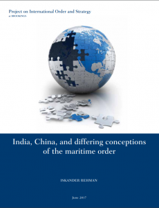 India China and differing conceptions of the maritime order