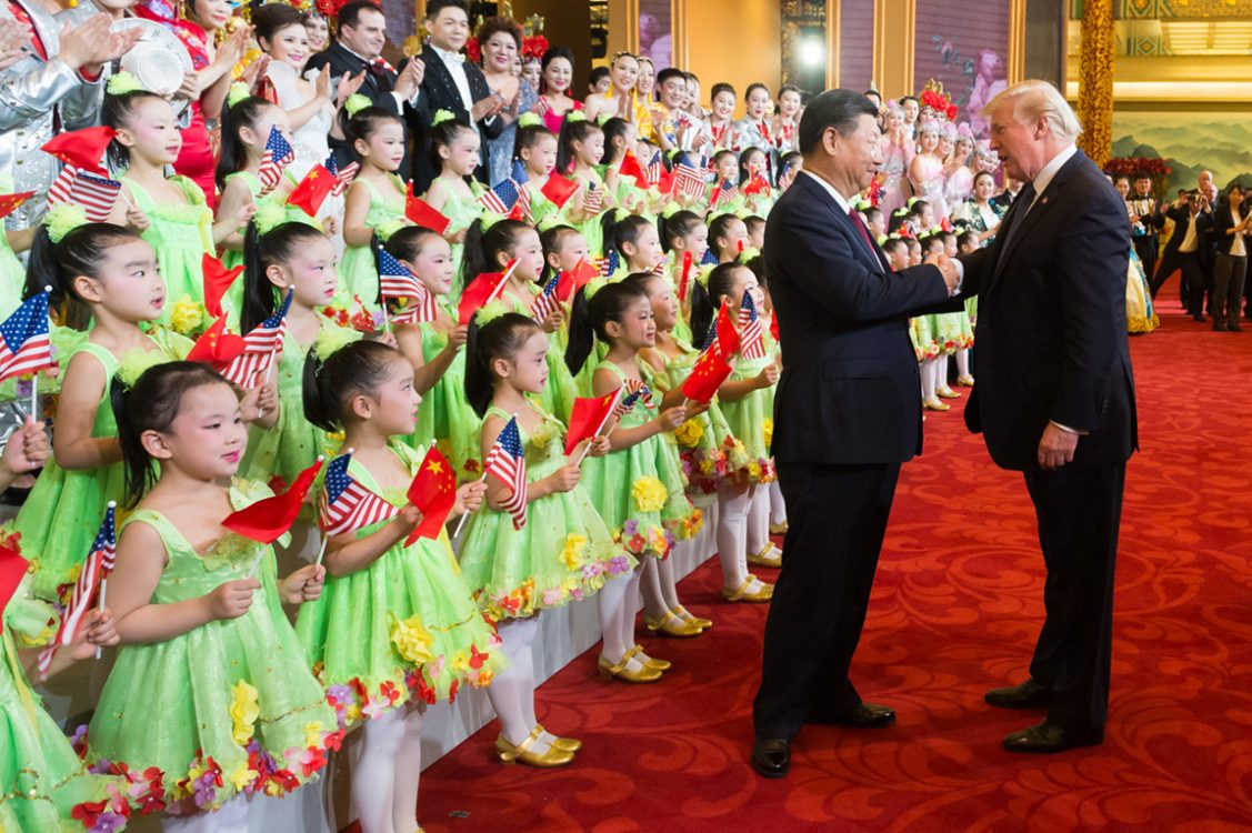 Xi Jinping and President Trump