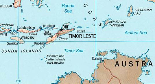 Timor Sea Map