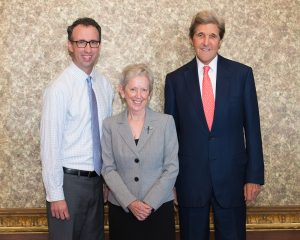 Jim Ludes, Sister Jane Gerety and John Kerry small