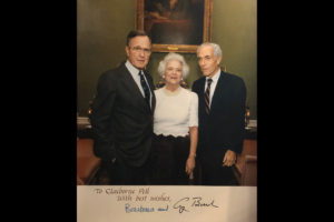 Claiborn Pell with George and Barbara Bush